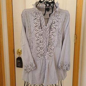 Bohemian inspired laced blouse- NWT